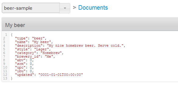 Beer JSON Output