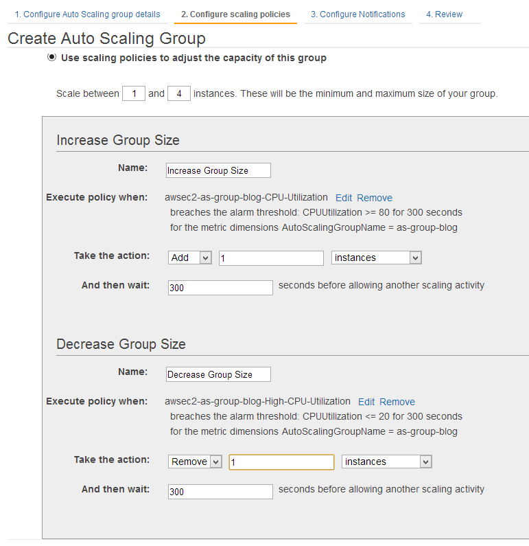 Create Auto Scaling Group