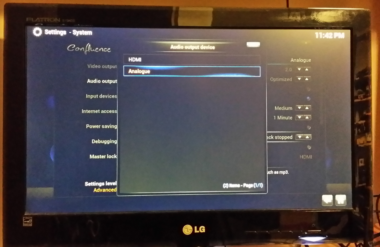 XBMC Audio Settings