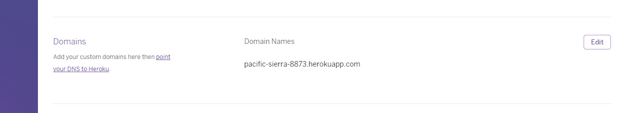 Heroku custom domain