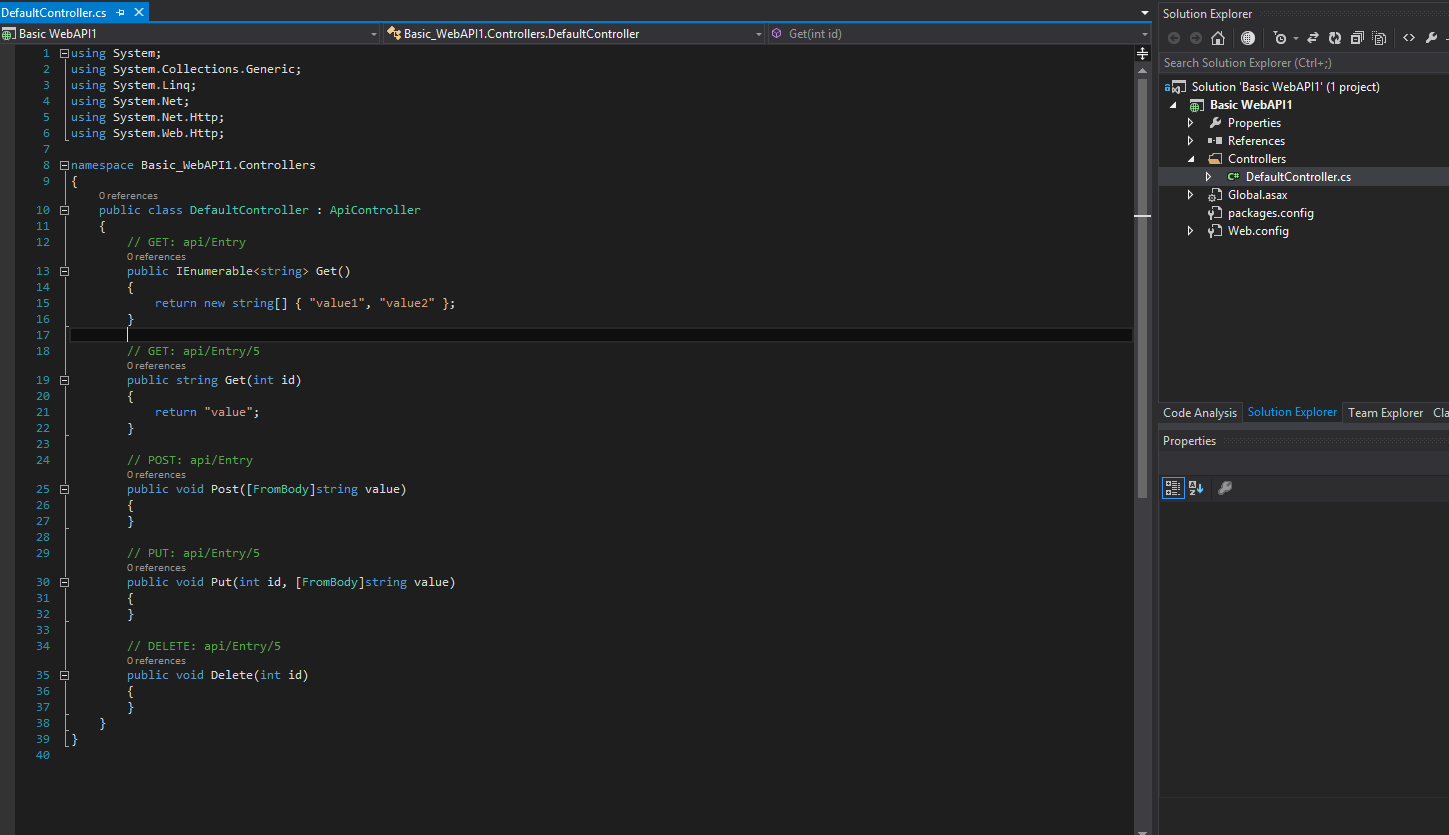 visual studio project template based project output