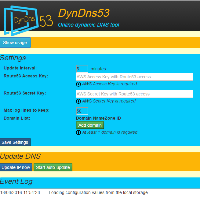 Dynamic DNS with AWS Route 53 - Part 2: AngularJS Client