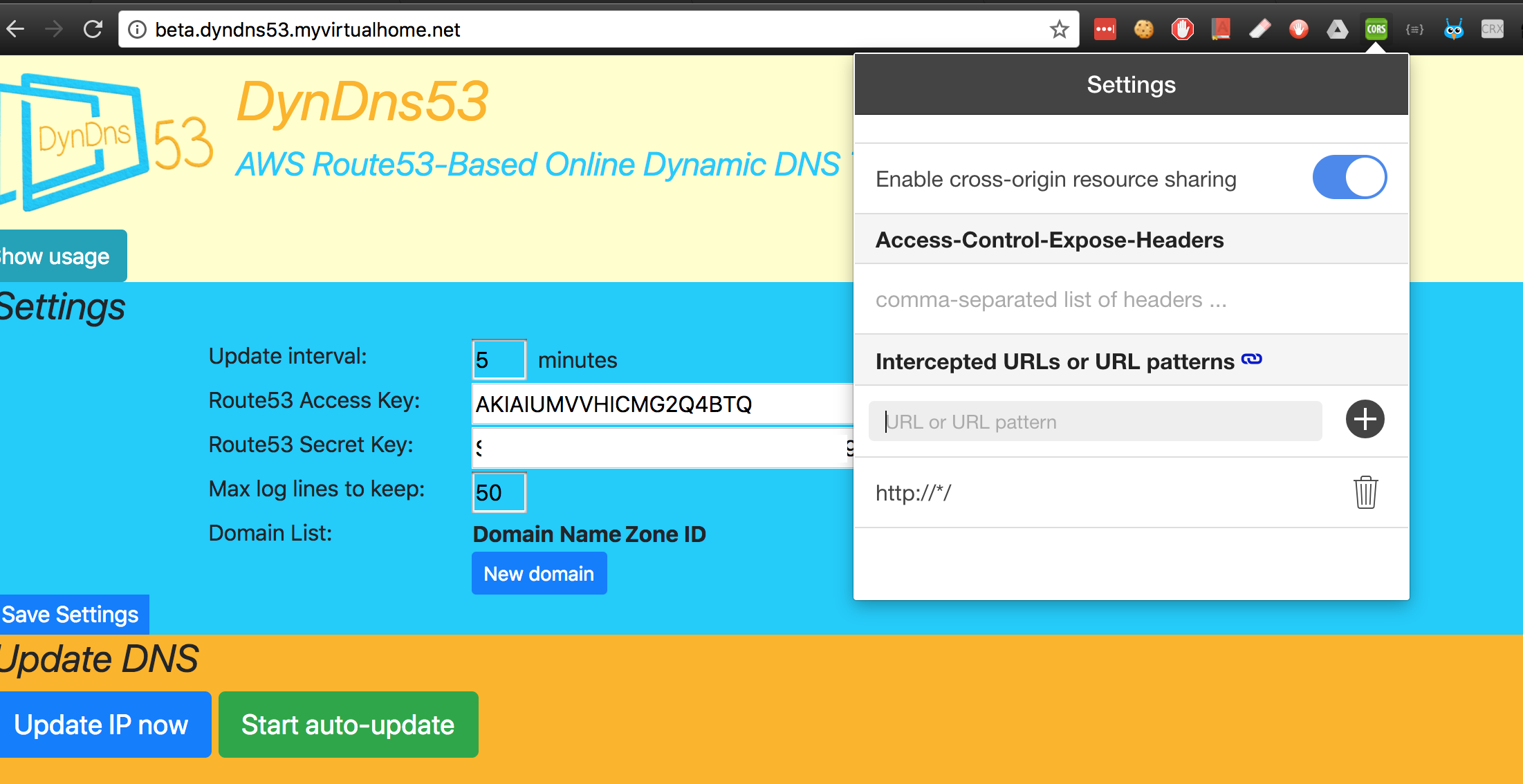 Updated DynDns53 with  NET Core, Docker and Angular 5