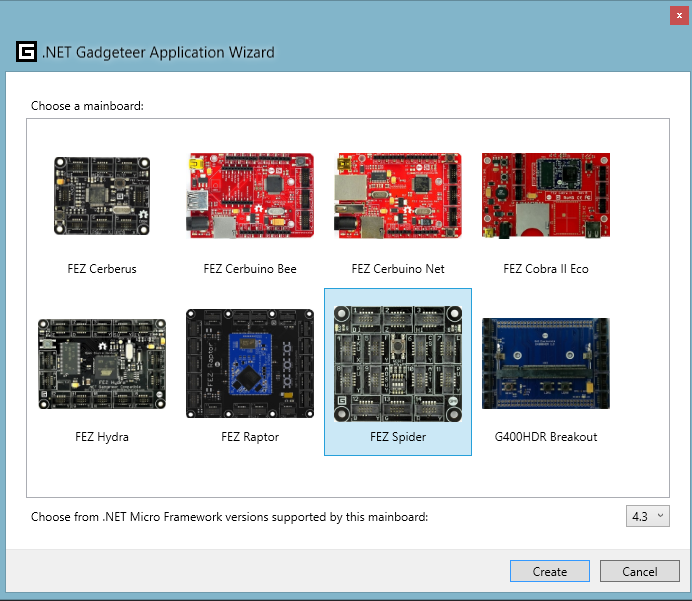 Gadgeteer Mainboard Selection